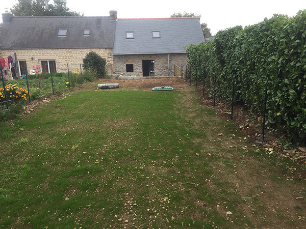 R novation d 39 une maison guillac morbihan breton build for Renovation jardin