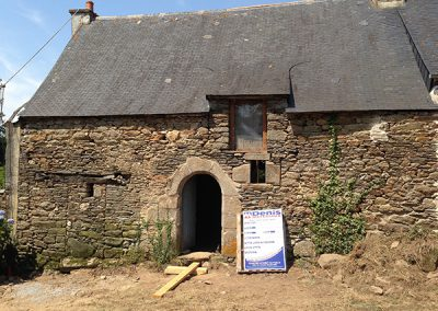 Old traditionnal breton house before renovation