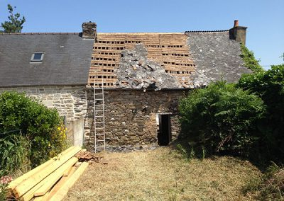 Old traditionnal breton roof before renovation