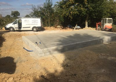 Concreting the floor slab