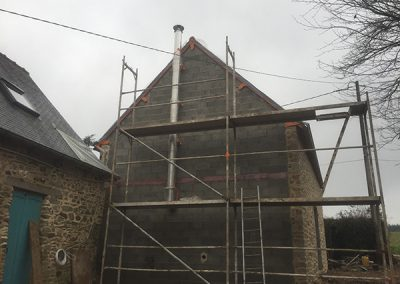 Putting up a scaffold for the gable rendering