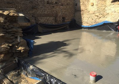 Concreting work in progress