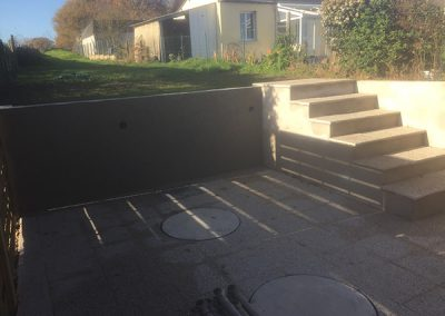 Sceptic tank installation and exterior terrace completed