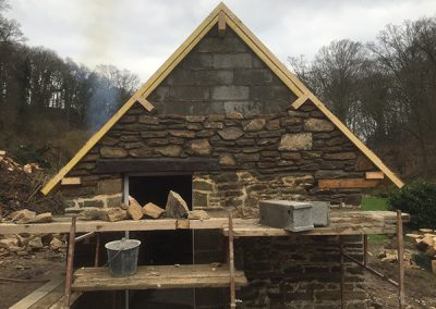 Masonry work in progress