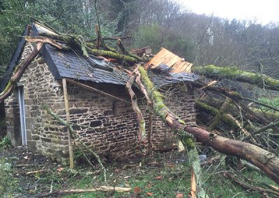 Outbuilding condition after the storm