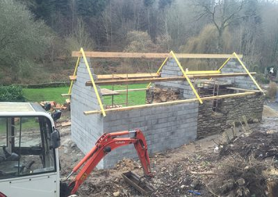 Timber framing work begining