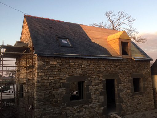 rénovation d'une maison traditionnelle bretonne